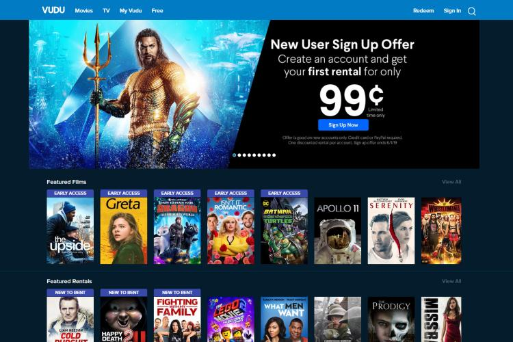 Free Best Movie Streaming Sites: Vudu